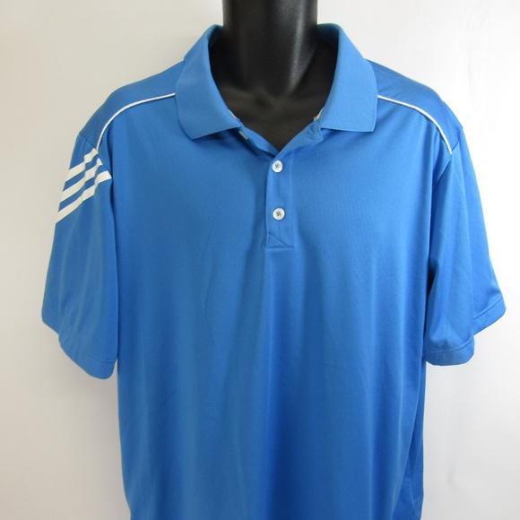 2692fa9b26 adidas Shirts | Climacool Polo Golf Shirt Xl Athletic Blue | Poshmark